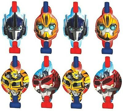 Transformers Prime Blowouts Set of 8 Party Favors  Birthday Supplies  - Transformers Birthday