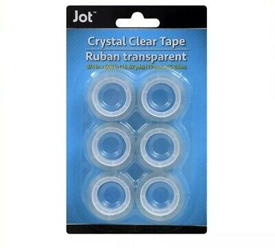 Jot Crystal Clear Transparent Refillable Tape 6 Rolls 34x 450 Each
