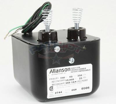 Allanson 2744-668 240v In 10000v Secondary Ignition Transformer For Wayne Hs