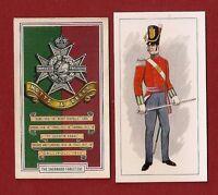 Sherwood Foresters Officer Uniform & Cap Badge 2 Cards -  - ebay.co.uk