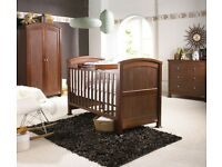 Izziwotnot Tranquility chestnut 3 piece nursery furniture set