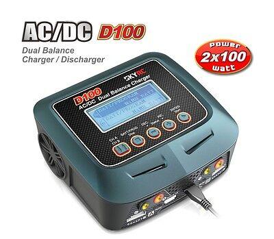 SKYRC D100 DUO Ladegerät AC/DC LiPo 1-6s 10A 2x100W SK100089