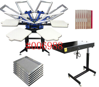 New Arrivel6-6 Screen Press Flash Dryer Silk Screen Printer Set 006988