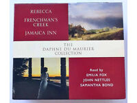 Daphne du Maurier audiobook CDs boxset of Rebecca, Jamaica Inn and Frenchman's Creek