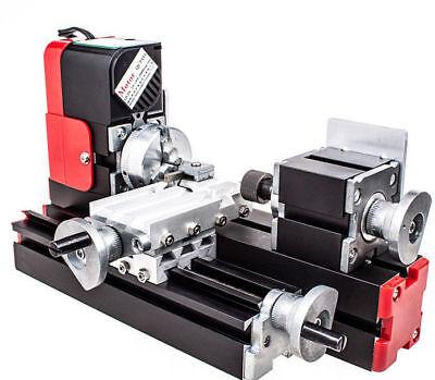 Us 20000rmin Miniature Multifunction Diy Cnc Metal Motorized Mini Lathe Machine