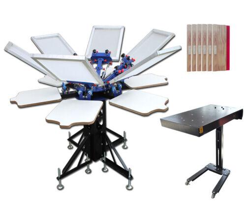 TECHTONGDA 6 Color 6 Station Screen Press & Flash Dryer & Aluminum Frame Package
