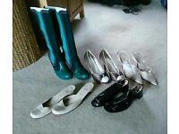 Assorted women's designer shoes
