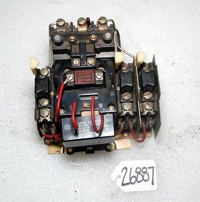 Allen Bradley Size 1 Motor Starter Switch Inv.26887-26889