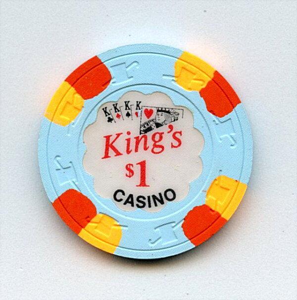 100 OLD VINTAGE 1973 CALIF CARD ROOM CHIPS - $1.00 - KING