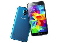 •••UNLOCKED•••Samsung S5 G900 mobile phone electric blue excellent condition