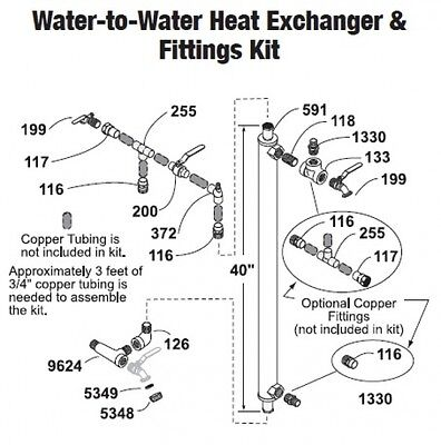 Central Boiler Water-to-water Heat Exchanger Fittings Kit