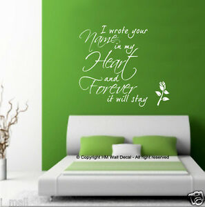 I-WROTE-YOUR-NAME-IN-MY-HEART-Romance-Quote-Removable-Wall-Decal