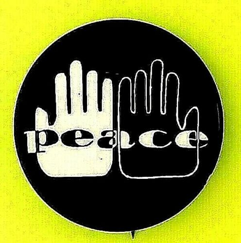 """BLACK POWER -PEACE Student Non-Violent Coordinating Committee 1966 1 1/4"""" button"""