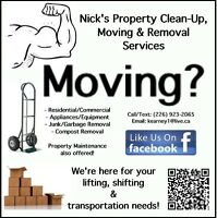 Nick's Property Clean-Up, Moving & Removal Services