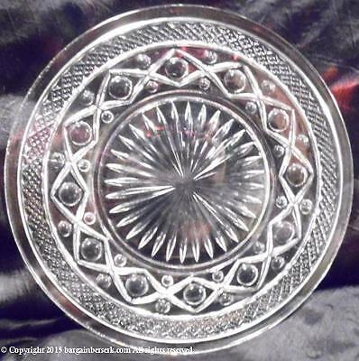 "ANTIQUE/VINTAGE CAPE COD CLEAR GLASS 8"" SALAD PLATE RETAIL $8 AS21"
