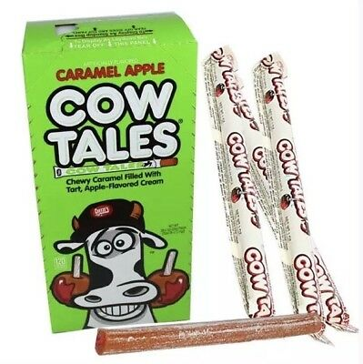Cowtales Cow Tales Caramel Apple Chewy Candy Cowtails Bulk 36 Count Box - Cow Tale Candy