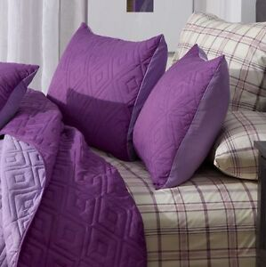 Spring Reversible Coverlet Set Twin Purple-Lavender, New