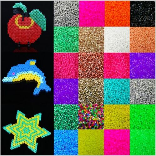 1000pcs 5mm Candy Color Plastic Hama Perler Beads For Educat