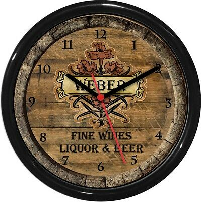 Beer 10 Wall Clock (Wine Barrel Wall Clock personalized 10