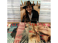 Vogue Magazine Collection 2008 to 2016