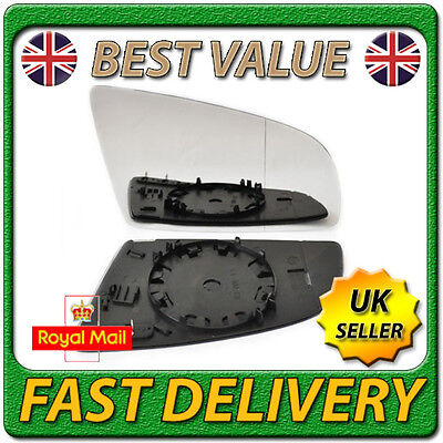 Right Driver Side Heated Aspherical Wing Door Mirror Glass for AUDI A3 2003 2008
