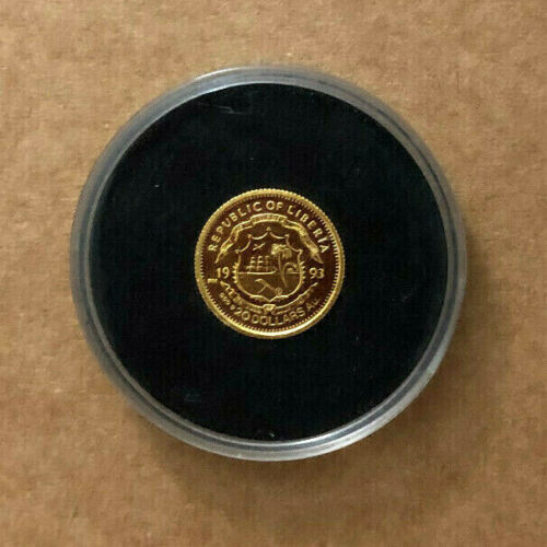 """Republic Of Liberia"" 1993 $20 Dollar .9999 Solid Fine Gold Coin 😍"