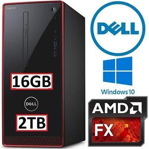 NEW OB DELL INSPIRON GAMING DESKTOP - 107938872 - AMD-FX8800P 16GB RAM 2TB HDD WIN10 AMD-FX8800P W/ KEYBOARD  MOUSE P...