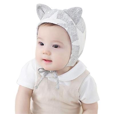 White Toddler Kid Baby Boy Girl Infant Cotton Soft Warm Beret Hat Cap Beanie