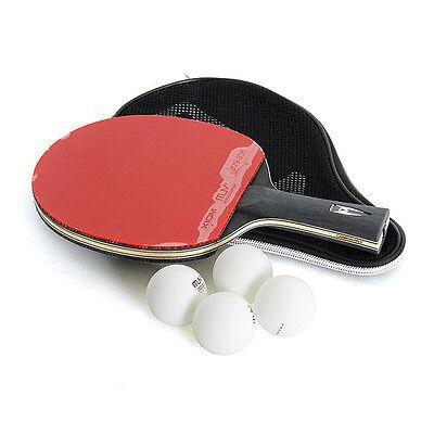 XIOM M6.0S Table Tennis Ping Pong Racket Paddle Bat Blade Shakehand + 4 balls