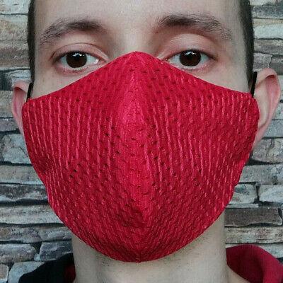 L Coolmax® Mesh Arbeitsmaske 8⏱ Mundschutz maske rot atmungsaktiv sport büro