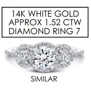 NEW* STAMPED 14K DIAMOND RING 7 179432 160547485 JEWELLERY JEWELRY 14K WHITE GOLD APPROX. 1.52 CTW DIAMOND