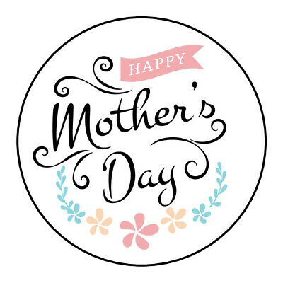 Happy Mothers Day Stickers Gift Box Sweet Cones Sweet Hamper Gift Bag Party (Happy Mothers Day Stickers)