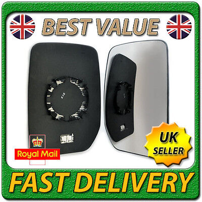 Right Driver Side Heated Wing Door Mirror Glass for FORD TRANSIT 2000 2012