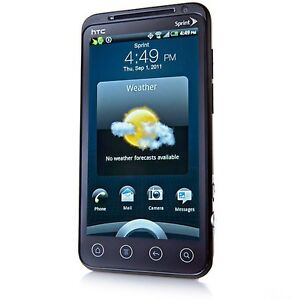 New HTC EVO 3D Black Android PG86100 4G 5MP Smartphone- **BAD SPRINT ESN**