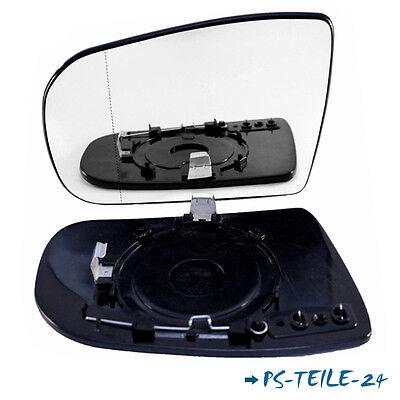 Spiegelglas für MERCEDES E-KLASSE W210 2000-2002 links asphärisch fahrerseite
