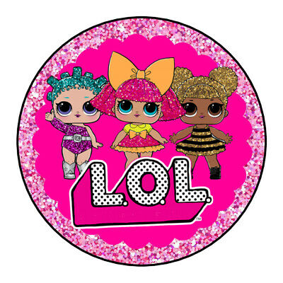 LOL Doll Stickers Party Sweet Cone Cake Boxes Chocolate Coin Easter Cookie Bags