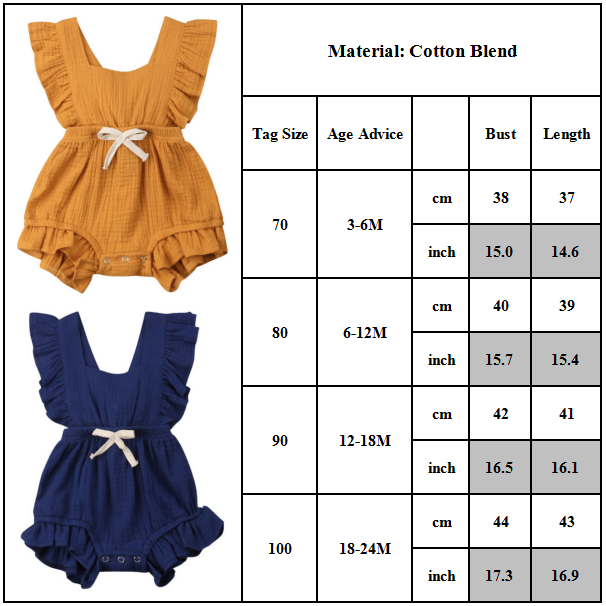 Toddler Infant Baby Casual Bodysuit Playsuit
