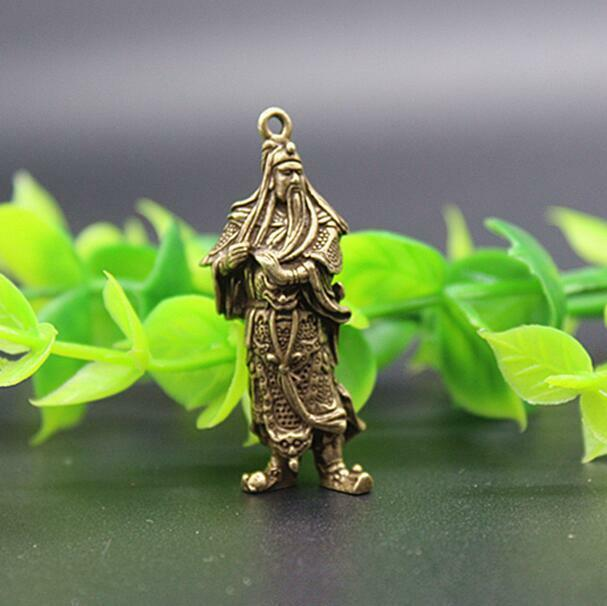 Chinese pure brass guan gong small pendant