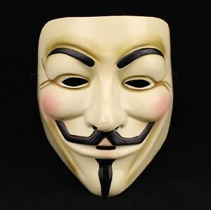 Halloween Cosplay MASK V for VENDETTA Costume Fawkes Anonymous mask kate8