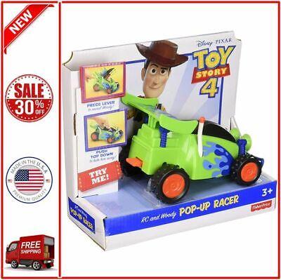 DISNEY PIXAR Toy Story 4 Movie Imaginext Woody Figure & R.C. Vehicle Set New