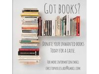 GOTBOOKS? DONATE YOUR UNWANTED BOOKS FOR A CAUSE.