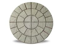 Weathered York 6ft Patio Circle Rotunda Feature Kit