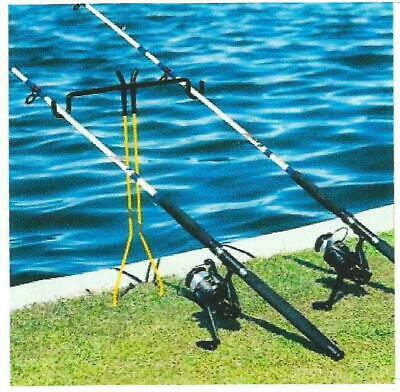 Double Fishing Pole Holder for Bank Fishing ()