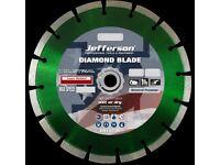 "Jefferson JEFDIBLB-350P 350mm / 14"" Industrial Diamond Blade Wet Or Dry"