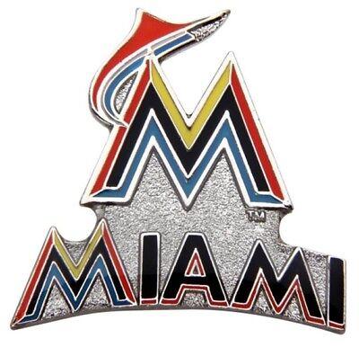 Miami Marlins MLB Baseball Logo & Script Design Sports Pin Licensed by Aminco