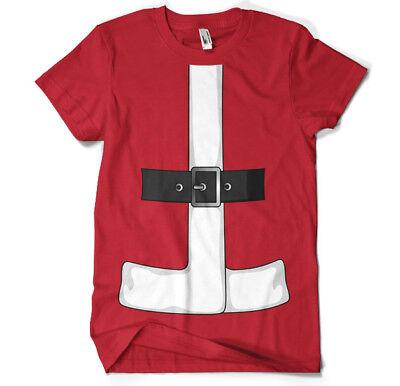 Mr Santa Claus Nikolaus Christmas Weihnachten Anzug Kostüm Männer Men T-Shirt ()