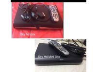 Sky hd box and mini 20 Pounds Each