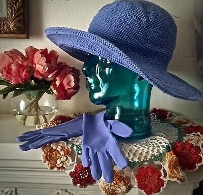 Womens Garden Gloves Sun Protection 50+UPF Periwinkle Blue Small Comfortable