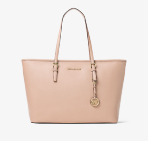 3b61874ed6 Michael Kors Jet Set Travel Saffiano Leather Tote 38f7gtvt3l Blush Pink