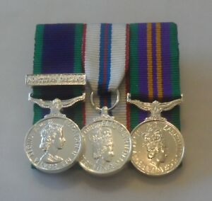 Court-Mounted-Miniature-Medals-GSM-Northern-Ireland-Silver-Jubilee-ACSM-Mini